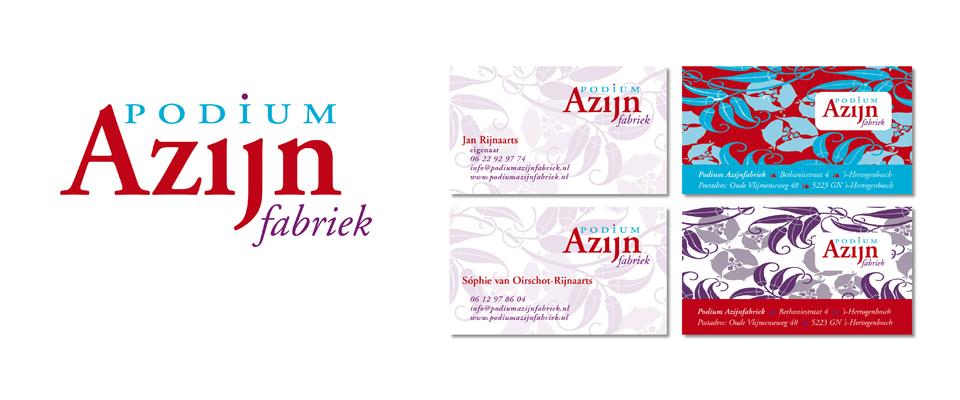 Visitekaartjes voor de Azijn fabriek Den Bosch