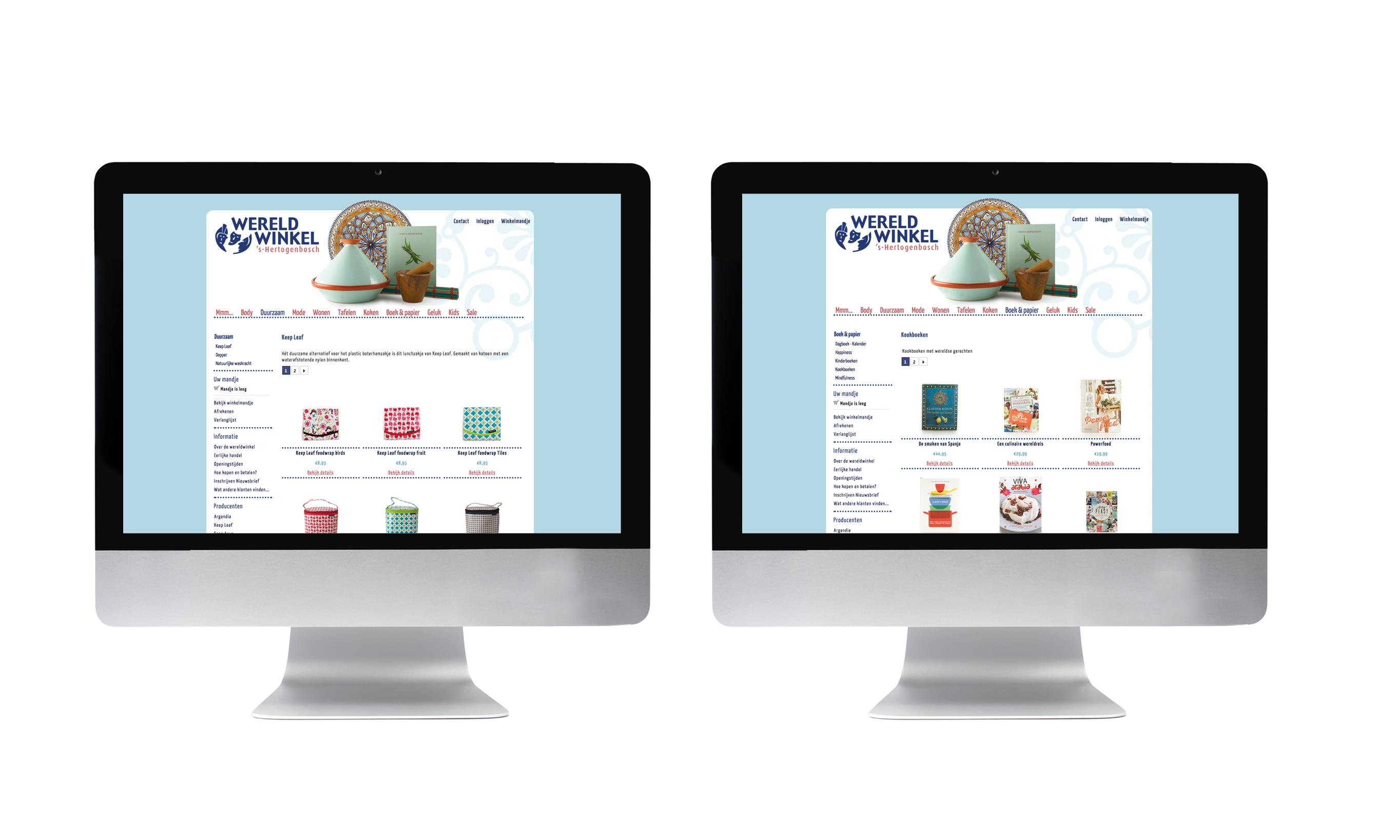 wereldwinkel webshop ontwerp