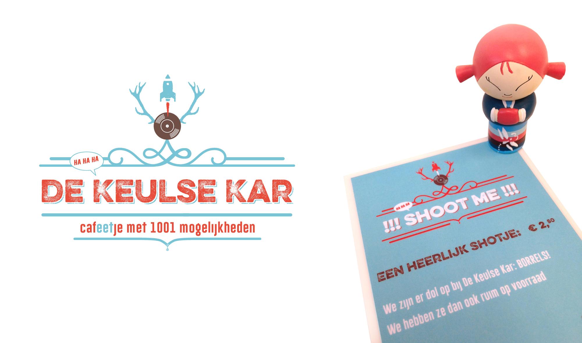 Logo ontwerp en menukaart ontwerp voor Café de Keulse Kar