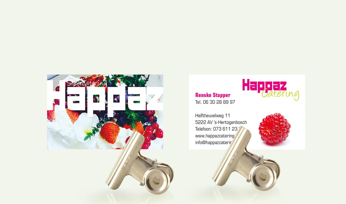 Happaz Catering Visitekaartjes