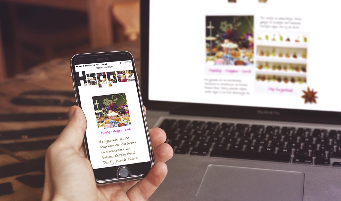 Rakata ontwerp voor de Happaz website, een overzicht van alle oogstrelende arrangemanten die beschikbaar zijn.
